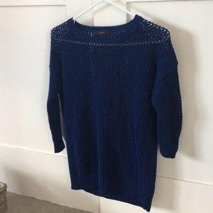Beachy navy jcrew light knit sweater